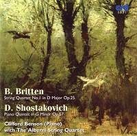 BRITTEN / SHOSTAKOVICH - Benson & the Alberni String Quartet